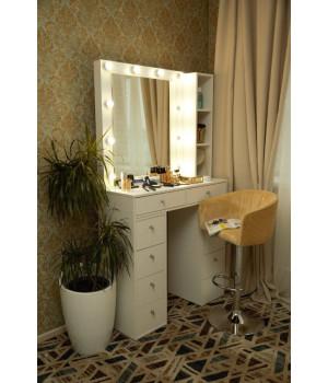 """Туалетный столик и стеллаж 100х100 с зеркалом 80х80  """"Мария"""""""