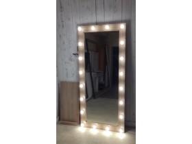 Выполненная работа: гримерное зеркало 180х80 с подсветкой по контуру 20 ламп (г. Самара)